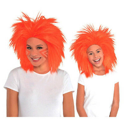 ORANGE CRAZY WIG for ADULTS or KIDS ~ Birthday Halloween Party Supplies Costume (Crazy Costumes For Halloween)