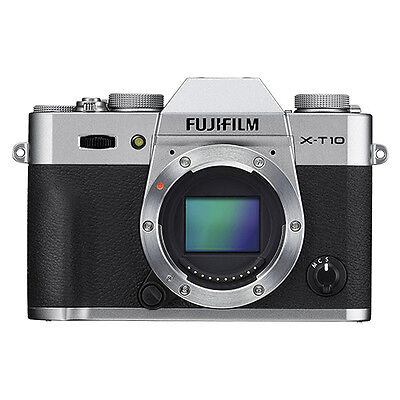 Fujifilm X-T10 Mirrorless Digital Camera Body Silver Wi-Fi