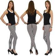 Schwarz Weiß Gestreifte Hose