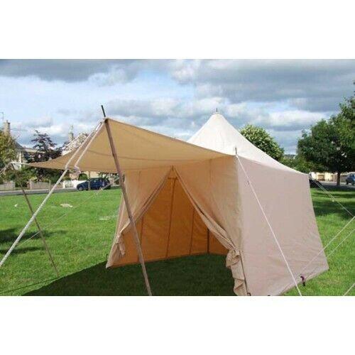 Medieval Tent SCA Canvas Slant wall square pavilion