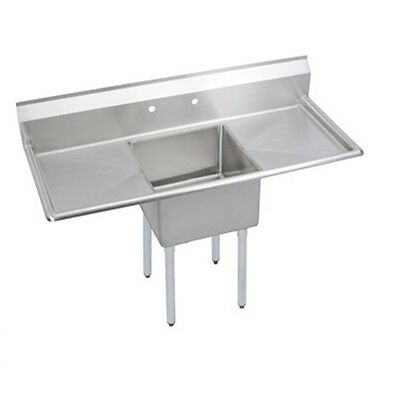 New Stainless Steel 36 X 22 1 Single One Compartment Sink W 2 Drainboards Nsf