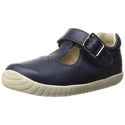 STRIDE RITE LINDSAY GIRLS SHOES SZ 9 W,10 W LEATHER NAVY T-STRAP MARY JANES