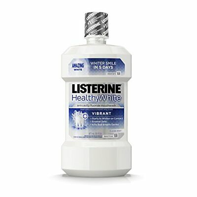 Listerine Healthy White Vibrant Multi-Action Rinse For Whitening Teeth, 16 Oz - Healthy Teeth Rinse