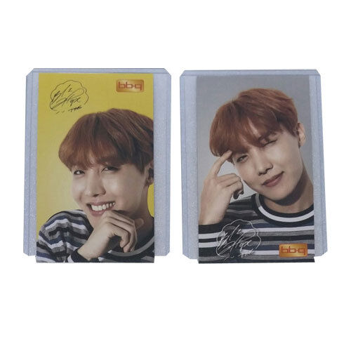 BTS J-Hope BBQ Chicken Photocard 2pc Set Photo Card BangtanBoys Top Loader k-pop
