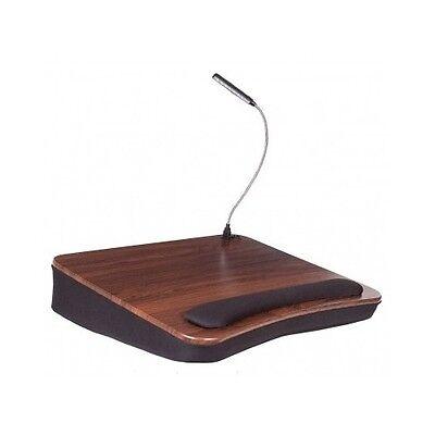 Laptop Lap Desk Memory Foam Cushion Computer Tablet USB Light Read Write Work