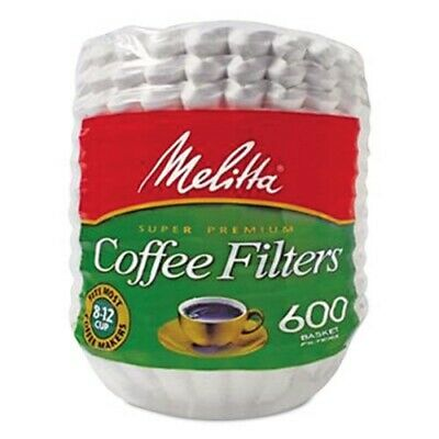 Melitta Basket Style Paper Coffee Filter, 8 to 12 Cups, 600 Filters (MLA631132) Basket Filter Paper