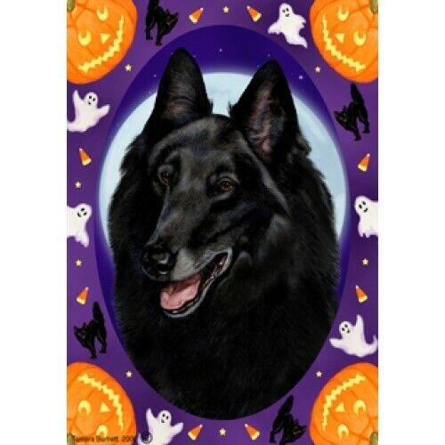 Halloween Garden Flag - Belgian Sheepdog 122041
