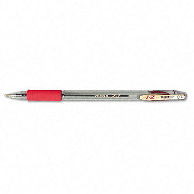 Zebra Z-1 Stick Ballpoint Pens Red Ink Medium Point 12 Count 23830