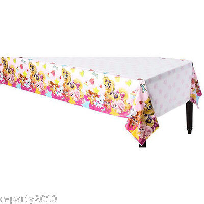 DISNEY PRINCESS PALACE PETS PLASTIC TABLE COVER ~ Birthday Party Supplies Cloth (Disney Princess Table Cover)
