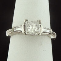 1.03 CTW PRINCESS CUT DIAMOND ENGAGEMENT RING BELOW COST