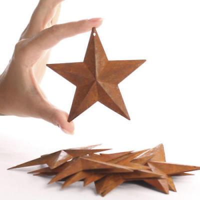 8 Rusty Barn Stars 3.75 in 3 3/4