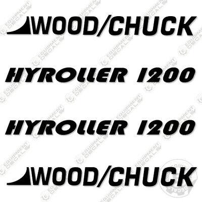 Woodchuck Hyroller 1200 Decal Kit Brush Chipper Decal Kit - 3m Vinyl