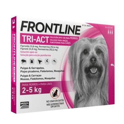 Frontline Tri-Act para perros de 2-5 kg (3 Pipetas)