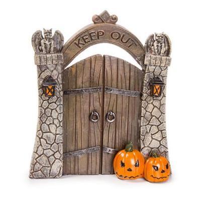 KEEP OUT Mini Halloween Gate Keeper Decor!