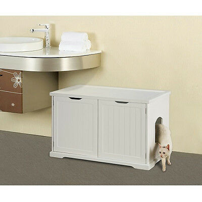 Merry Pet Products Cat Washroom Litter Box Cover - Walnut