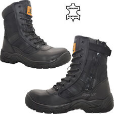 MENS LIGHTWEIGHT STEEL TOE CAP MILITARY COMBAT SAFETY BOOTS POLICE WORK SHOES SZ