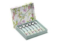 Sanderson Porcelain Garden - Tea Spoon Set Of 6 ..... brand new