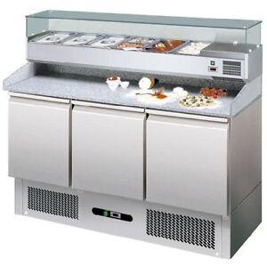 banco pizza refrigerato tavolo frigo inox 3 porte. Black Bedroom Furniture Sets. Home Design Ideas