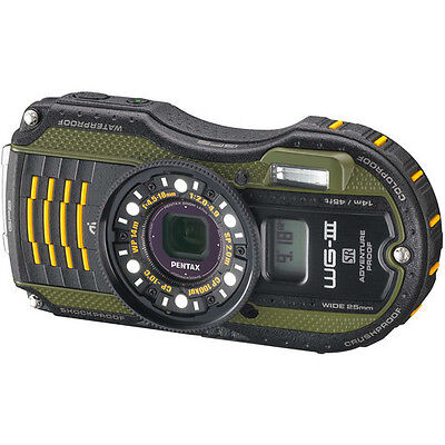 Pentax WG-3 Digital Camera with GPS (Green) 12662 on Rummage