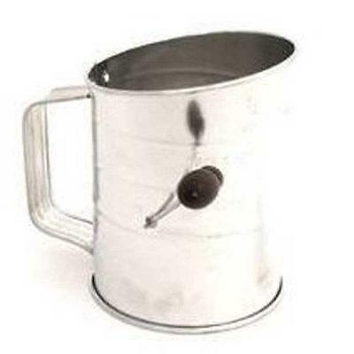 Norpro 3-Cup Stainless Steel Rotary Hand Crank Flour Sifter With 2 Wire New