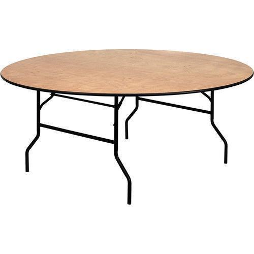 Bithlo Reclaimed Wood Top Round Industrial Coffee Table: Round Wood Table Top