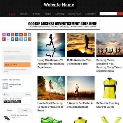 Running Store - Established Online Business Website For Sale Mobile Friendly