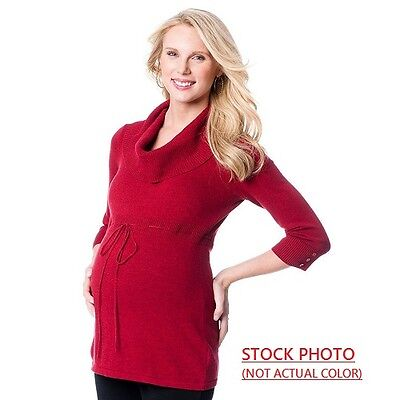 BRAND NEW OH BABY by MOTHERHOOD COWLNECK MATERNITY TUNIC SWEATER GREY SIZE M