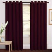 Plum Eyelet Curtains