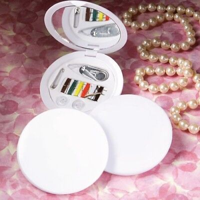100 White Compact Sewing Kits Wedding Bridal Baby Shower Birthday Party Favors (Wedding Favor Kits)