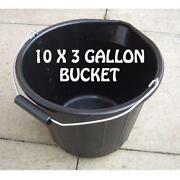 Black Plastic Buckets