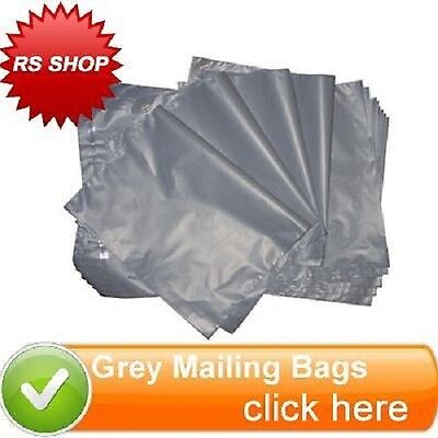 100 Small Grey Mailing / Postal Bags 165x230cm 6.5x9