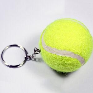 ARTIFICIAL 3D TENNIS BALL PENDANT KEYRING SPORTS LOVELY KEY CHAIN FADDISH