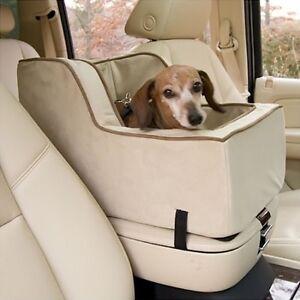 snoozer xl high back suv console pet dog car booster seats buckskin java