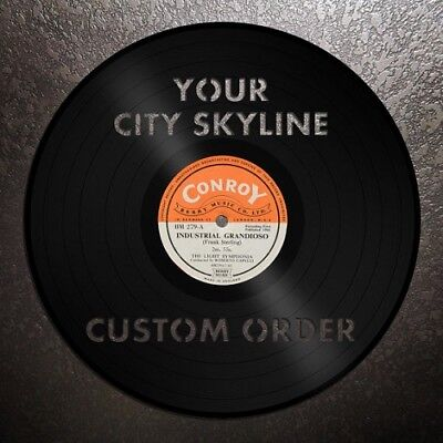 Your City Skyline Vinyl Wall Art Personalized Valentines gift Home Bedroom Decor