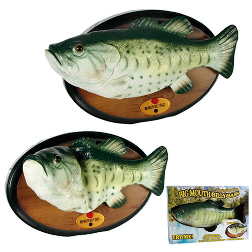 Singing fish billy bass vintage wall plaque novelty gift for Talking fish on wall
