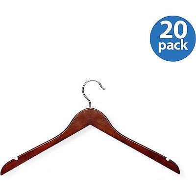Honey-Can-Do Basic Shirt Hanger, Cherry Finish, 20pk -
