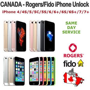 Rogers Fido iPhone Unlocking 5/5c/5s/6/6s/7/7 for $90