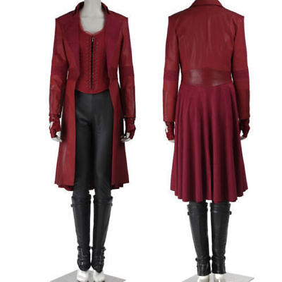 Captain Scarlet Kostüm (Captain America Scarlet Witch Cosplay Costume Custom Size Full Suit)