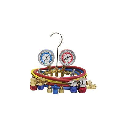 Mastercool Dual 134a And 1234yf Brass Manifold Gauge Set - Ac Air Conditioning