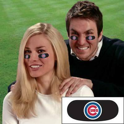 Chicago Cubs Face Decorations 6 High Quality MLB Eye Black Strips Vinyl Stickers - Chicago Decorations