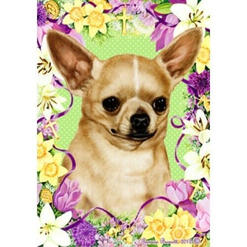 Easter House Flag - Chihuahua 33046