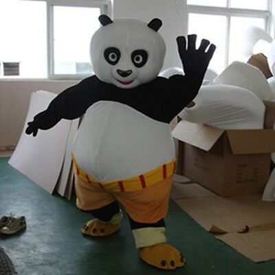 Unisex  Kung fu Panda Mascot Costume Suit Dress Adult Cosplay Party Game Dress