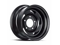 """Land Rover Defender Steel Wheels 16"""" set of 4 Defend 68 Satin Black"""