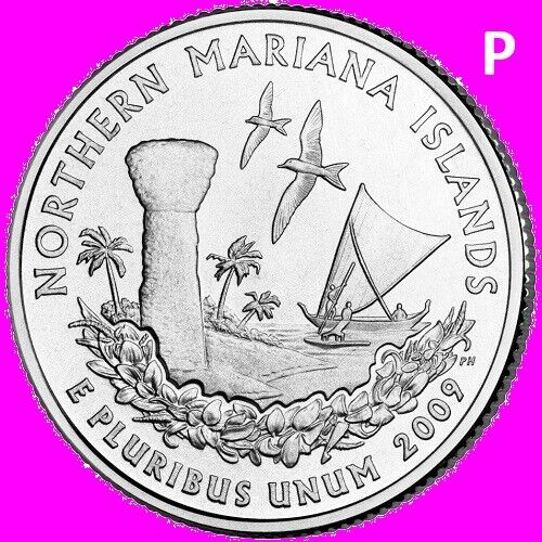 2009 P Northern Mariana Islands Quarter DC & US Territory Statehood  ~ UNC  2nd