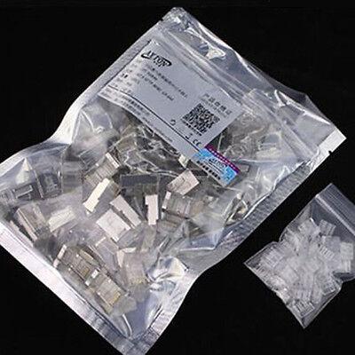 50pcs rj45 cat6 8p8c shieldedstranded crimp modular plug. Black Bedroom Furniture Sets. Home Design Ideas