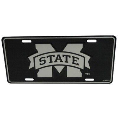 MISSISSIPPI STATE BULLDOGS ELITE CAR TRUCK TAG LICENSE PLATE BLACK SIGN MAN - Mississippi State Bulldog