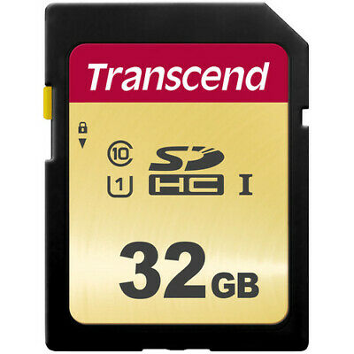Transcend 32GB 500S UHS-1 Class 10 SDHC Read up to 95MB/s SD