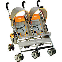 Jeep-Wrangler Twin Sport All-Weather Umbrella Double Stroller