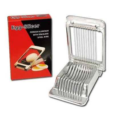 Egg Slicer Heavy Duty Commercial Grade Forged Aluminum Stainless Steel Wire