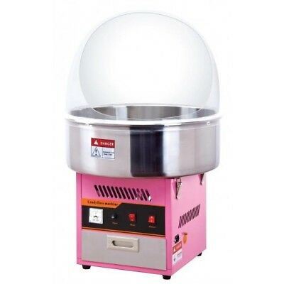 Candy floss machine and metal bowl and cover